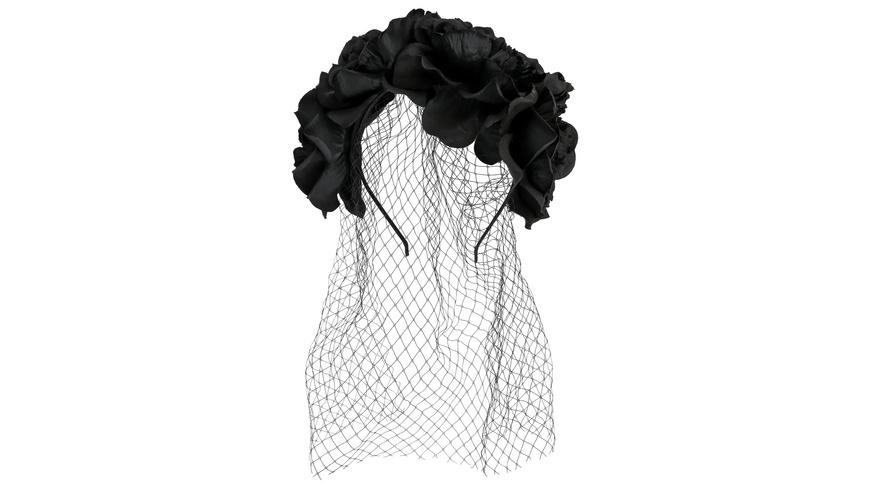 Haarreif - Black Flowers
