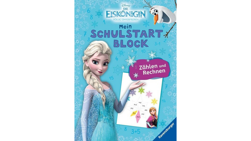 Disney Die Eiskönigin Mein Schulstartblock: Zählen und Rechnen