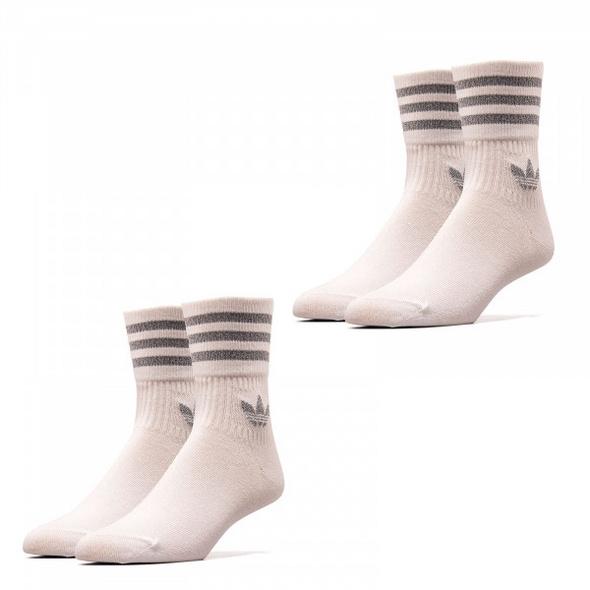 Socken 2er Pack - Crew Socks - White Reflective Silver