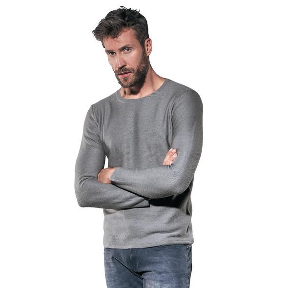 Rundhalspullover aus weicher Wolle