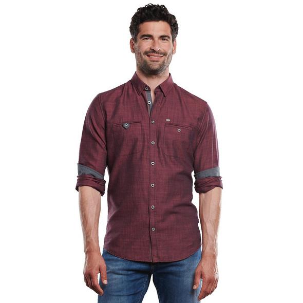 Langarm-Hemd mit feiner Struktur