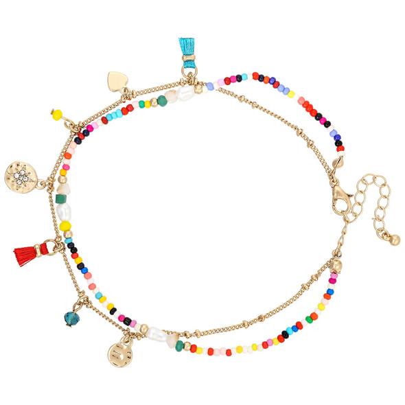 Fußkettchen - Colorful Pearls