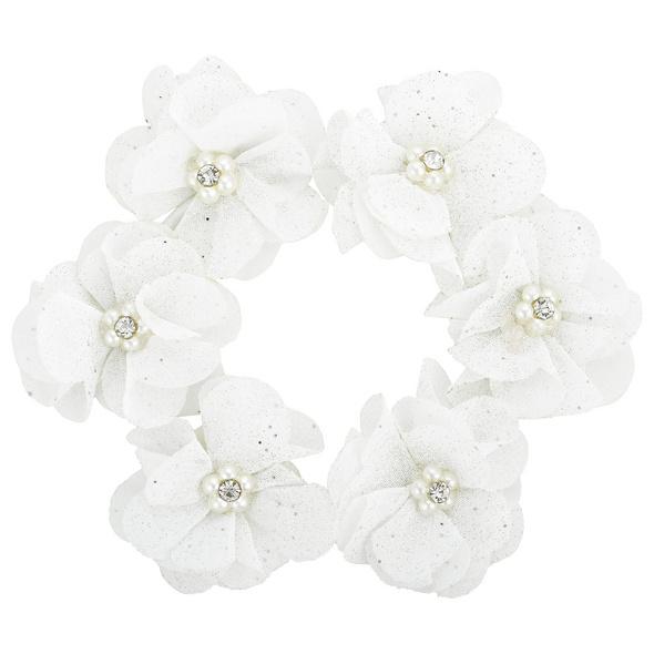 Haargummi - White Glitter