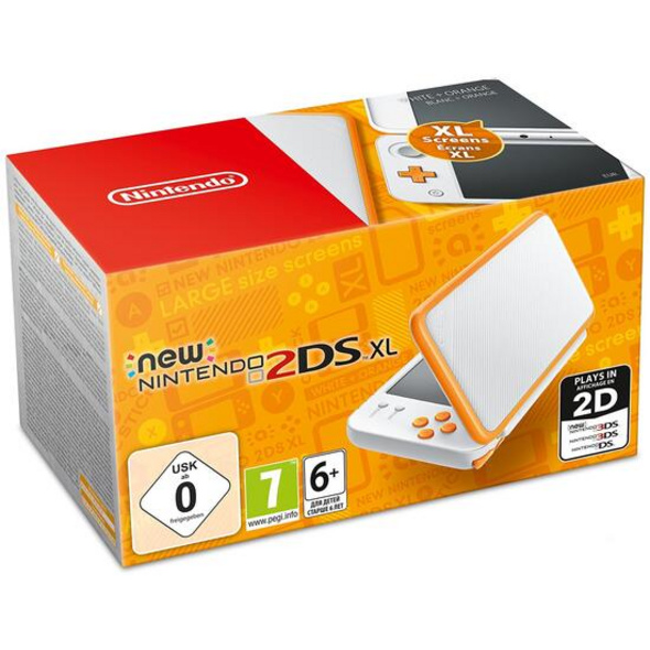 Nintendo New Nintendo 2DS XL Konsole weiß + orange