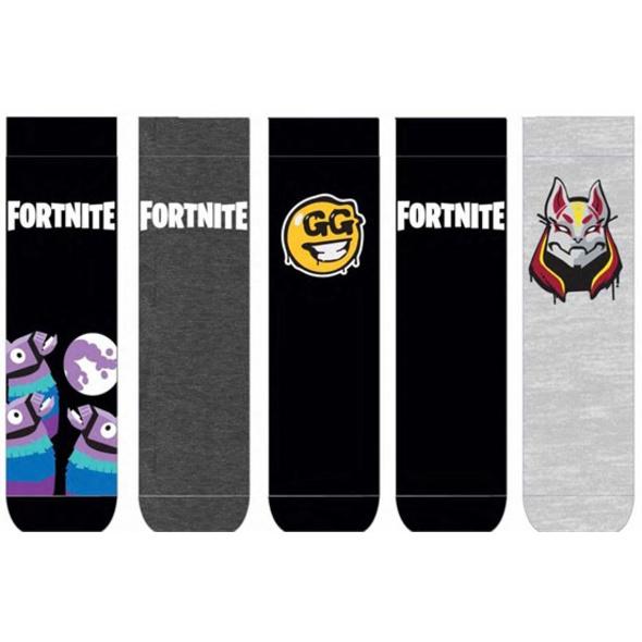 Fortnite - Socken 5er Pack Logo & Symbols (Größe 39-43)