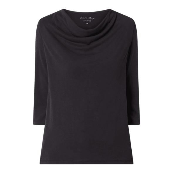 Shirt mit Wasserfall-Ausschnitt