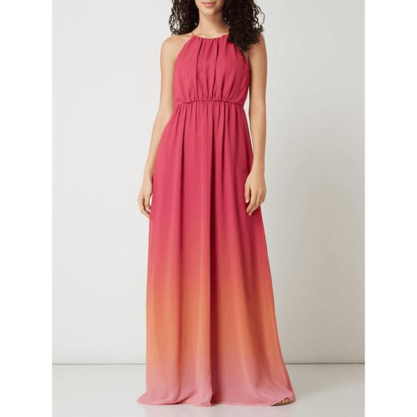 Abendkleid aus Chiffon mit Farbverlauf