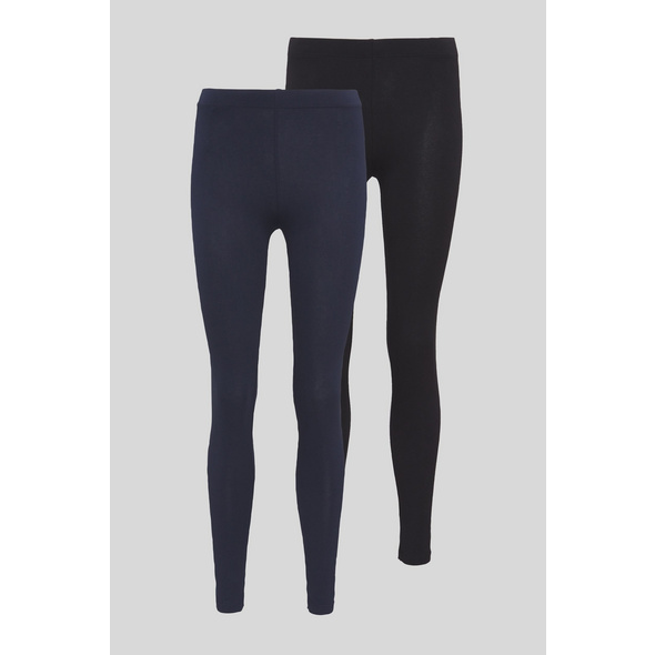Basic-Leggings - Bio-Baumwolle - 2er Pack