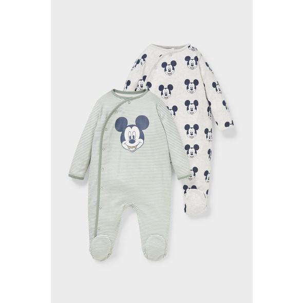 Multipack 2er - Micky Maus - Baby-Schlafanzug