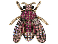 Brosche - Pink Insect