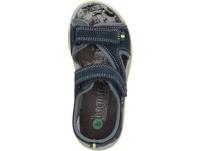 Sandale aus Veloursleder