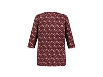 Shirt, Minimalmuster, Ausschnitt mit Biesen, 3/4-Ärmel