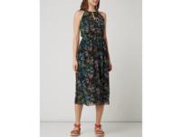 Kleid aus Chiffon mit Blättermuster