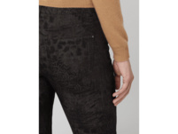 Skinny Fit Stoffhose mit Leopardenmuster