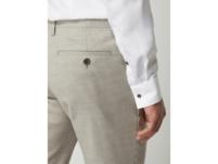 Anzughose in gerader Passform mit Webmuster