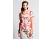 T-Shirt, Palmblätter-Muster, Ausbrennerjersey