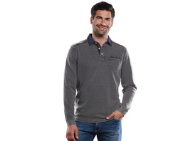 Polo-Shirt Langarm strukturiert