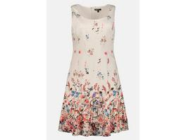 Ulla Popken Kleid, Blütenmuster, ärmellos, Jersey-Unterkleid - Große Größen
