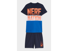 NERF - Shorty-Pyjama - Bio-Baumwolle - 2 teilig