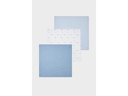 Multipack 3er - Baby-Dreieckstuch - Bio-Baumwolle