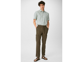 Leinen-Cargohose - Tapered Fit