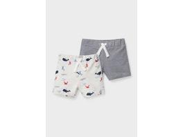 Multipack 2er - Baby-Sweatshorts - Bio-Baumwolle