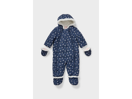 Baby-Schneeanzug mit Kapuze - recycelt - geblümt
